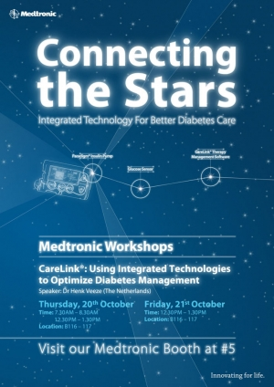 medtronic diabetes ispad workshops poster