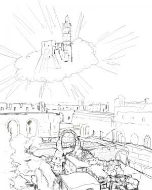 storyboard david fly jerusalem