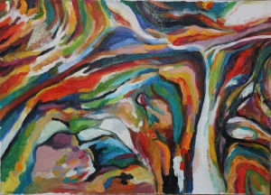 Ways of the Lord. oil on canvas. 70X50 cm