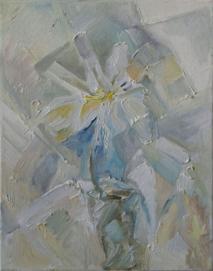 Abstract white flower