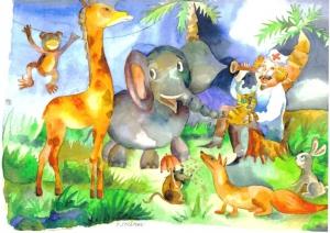 Watercolor. Dr. Aibolit