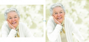 closeup-portrait-of-a-smiling-elderly-woman figure additions in Photoshop