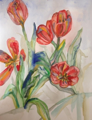 WATERCOLORS flowers